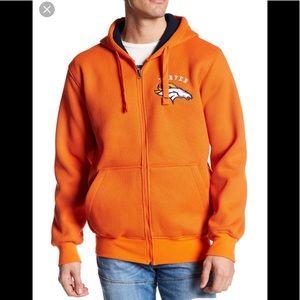 NWT NFL Men's Denver Broncos Full Zip Hoodie
